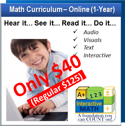 Spectacular Sale Event - A+ Interactive Math Onlie - Building a Foundation You can COUNT on!